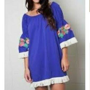 Umgee Embroidered Mini Dress/Tunic
